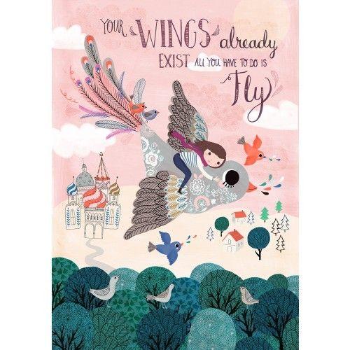 Juliste Your Wings 29.7 x 42 cm, Petit Monkey