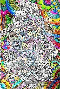 Sketch, Color, White, Nero, Faded