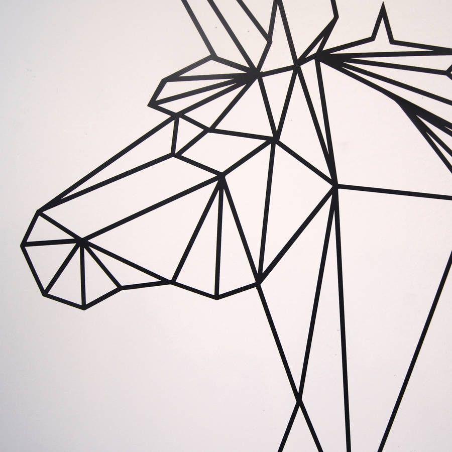 Geometric Unicorn Wall Sticker   home   Pinterest   Wall ...