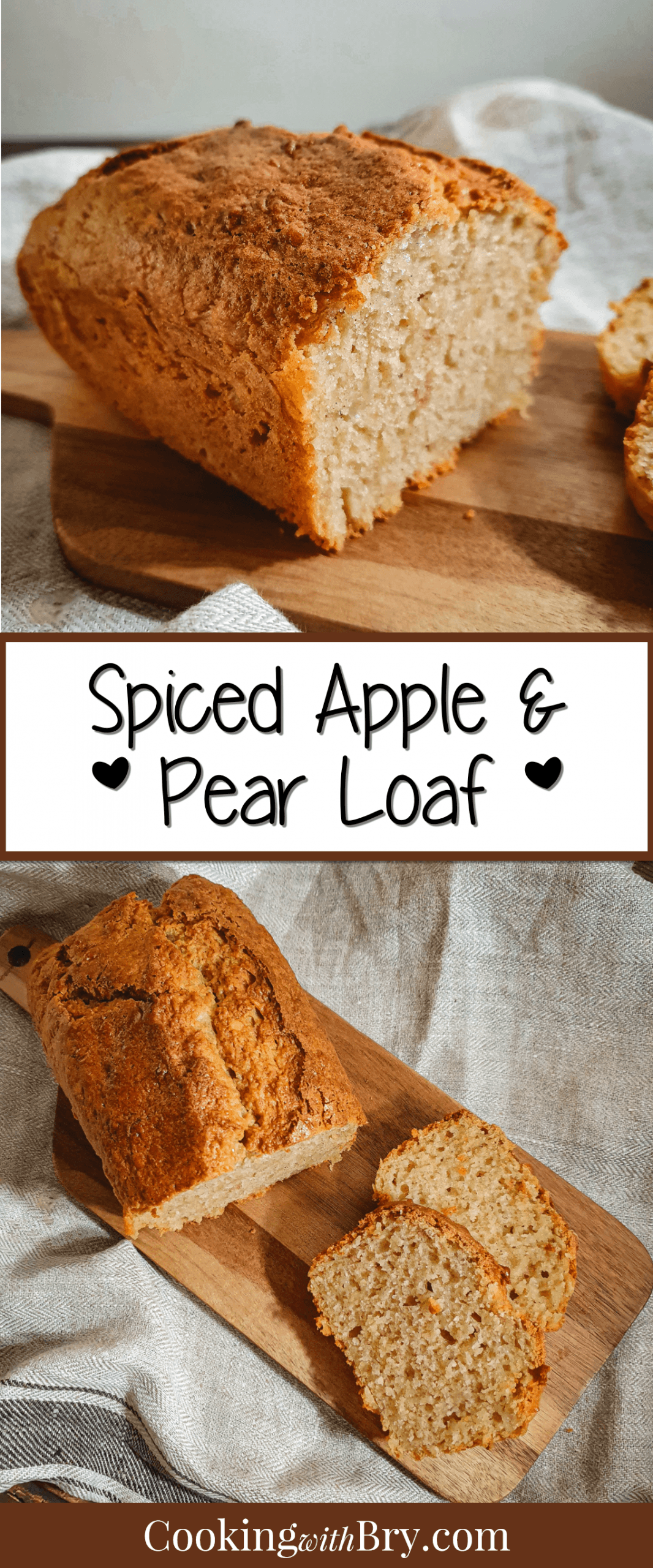 Spiced Apple & Pear Loaf is a classic British cake loaf with amazing spiced and apple & pear flavours. It's an easy way to add perfectly spiced flavours to your meal! #baking #cake #dessert #recipe #homebaked