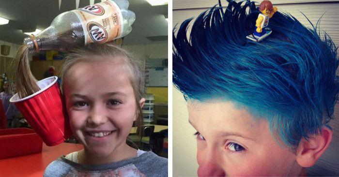 Pettinature bambini ~ Acconciature pettinature capelli folli bizzarri crazy hair day fb