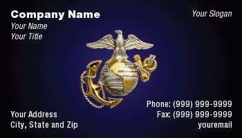 Marine corps business cards
