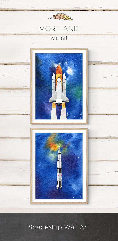 Space Shuttle Print Vertical Space Shuttle Art Spaceship Etsy Spaceship Wall Art Trendy Wall Art Art Wall Kids