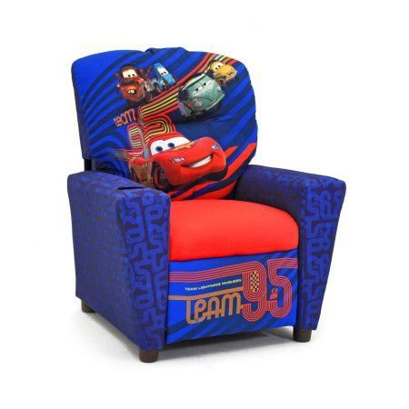 Kids Children Toddlers Upholstered Character Fabric Bedroom Arm