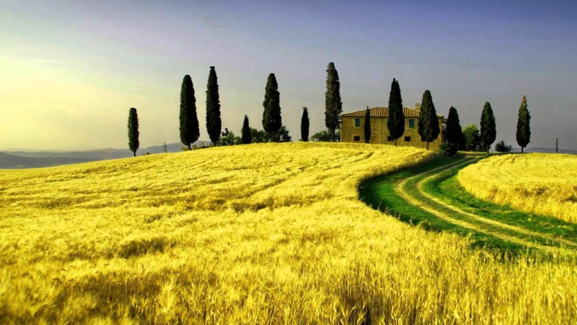 tuscany, italy | tuscany italy - beautiful scenery with flute music