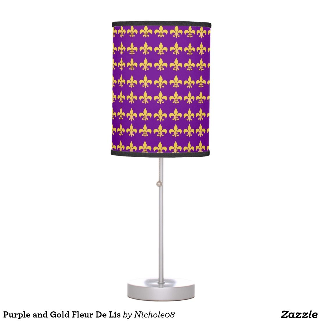 Purple and gold fleur de lis table lamp tables purple and table purple and gold fleur de lis table lamp geotapseo Gallery