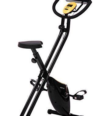 Merax Folding Adjustable Magnetic Upright Exercise Bike Fitness