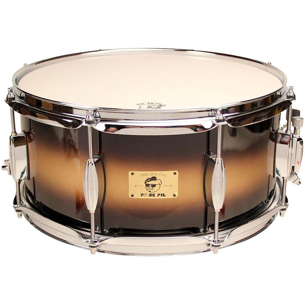Pork Pie Hip Pig Eastern Mahogany Snare Drum 14 x 6.5 in. Black/Gold ...