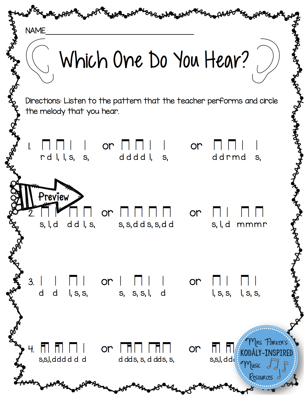 Music Worksheet Bundle Low So