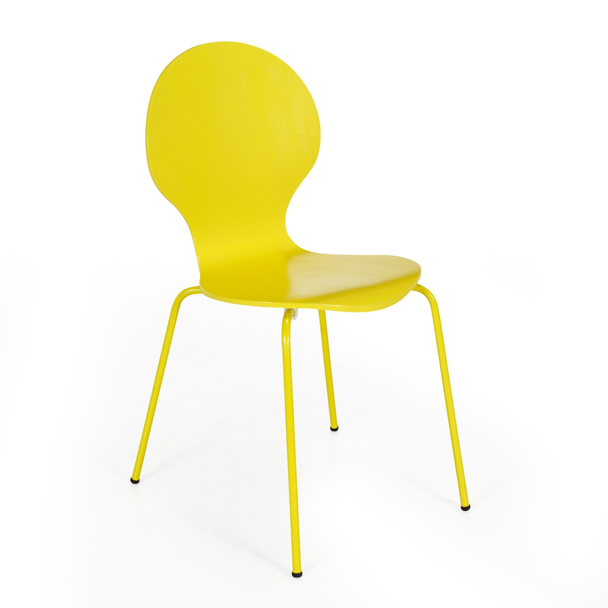 Chaise jaune rétro Jaune - Maddy - Alinéa 29.95€ | Chaises ...