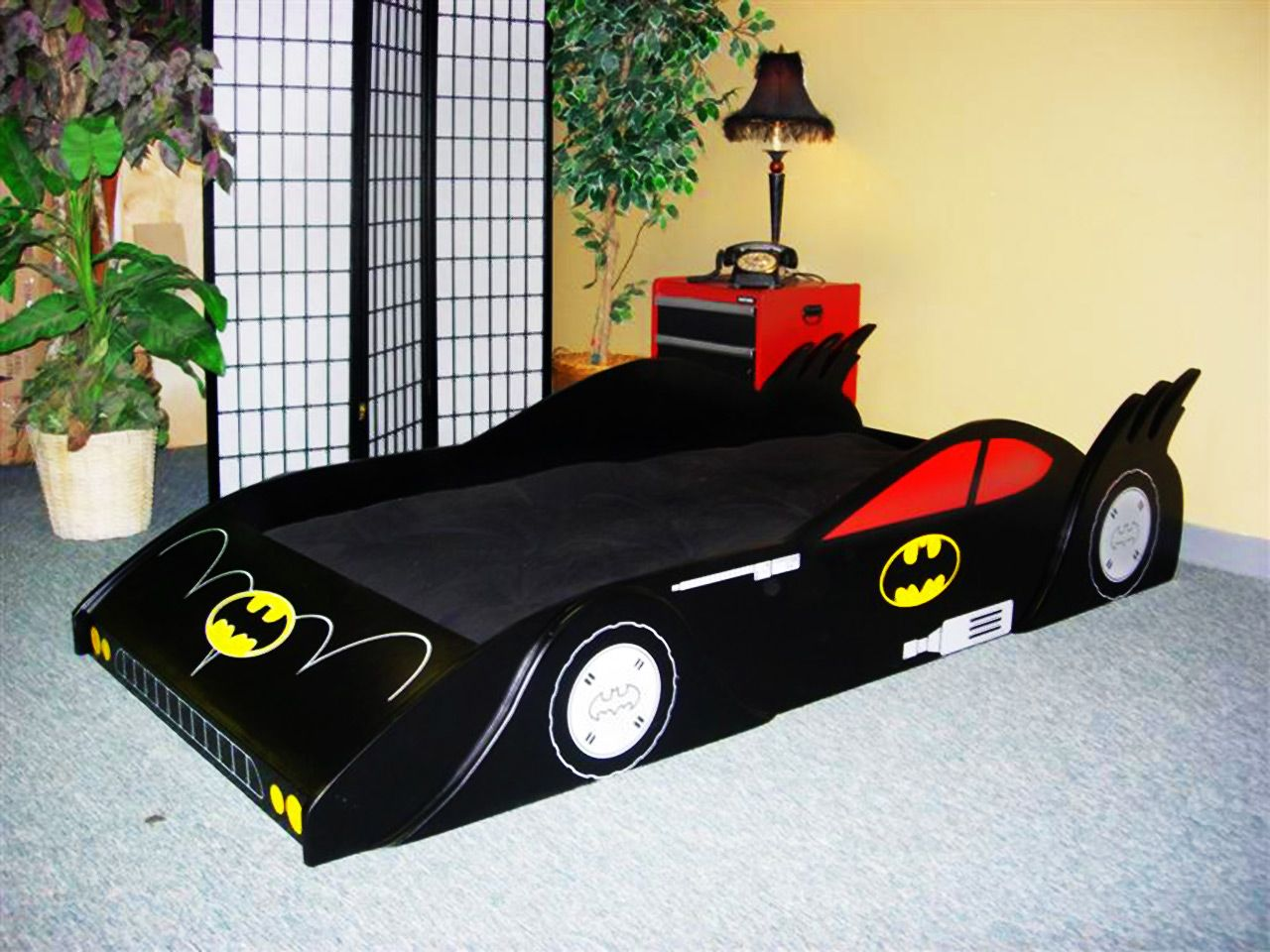 Batmobile bed.....how awesome!