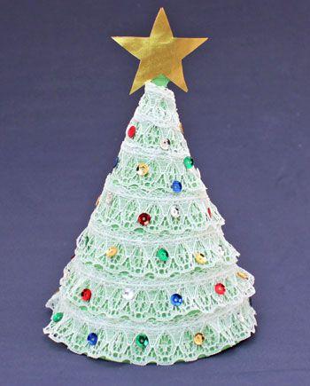 Como Fazer Árvore de Natal de Mesa Construction paper, Christmas