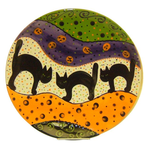 Fun Halloween cat platter from Expressly Yours Studio.  sc 1 st  Pinterest & Fun Halloween cat platter from Expressly Yours Studio.   Halloween ...