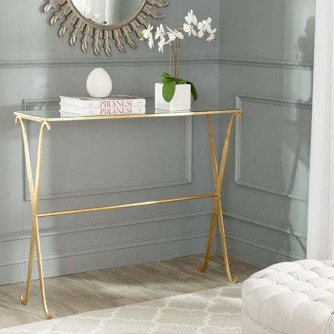 Safavieh Lavar Console Table - Gold Decoooooor Pinterest