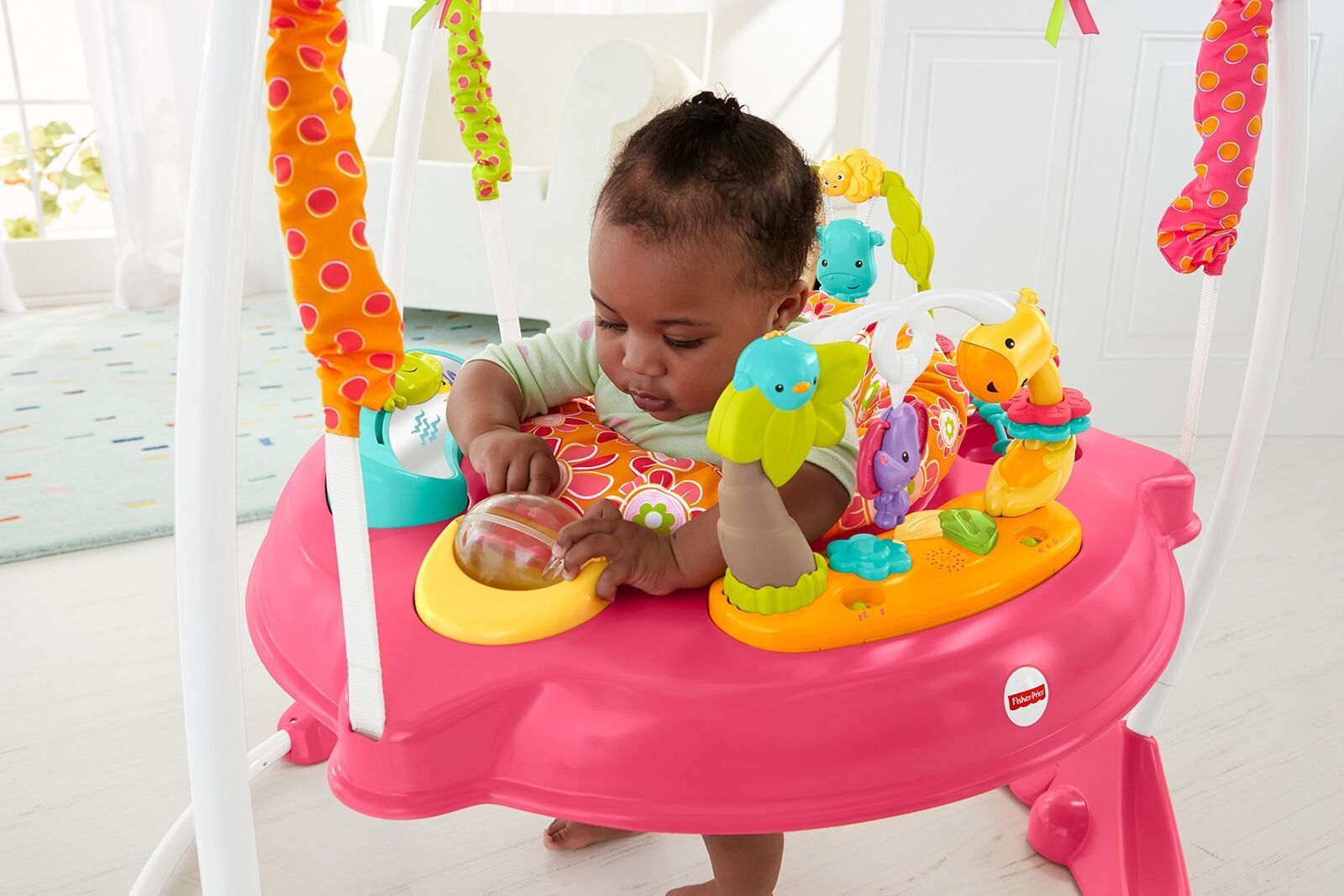 Fisher Price Jumperoo Baby Girl Jumper Bouncer Activity Seat Toys Sound Pink Col Fisher Price Jumperoo Cool Baby Stuff Jumperoo