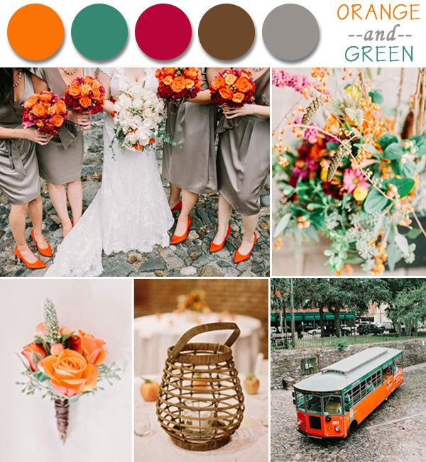 Popular Wedding Colors 2014: Perfect Fall Wedding Color Palette Ideas 2014 Trends