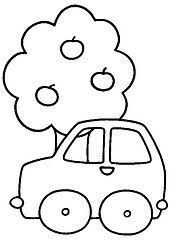 Carrinho e rvore (Lucia Helena Cesar) Tags: carro feltro rvore riscos moldes patchcolagem