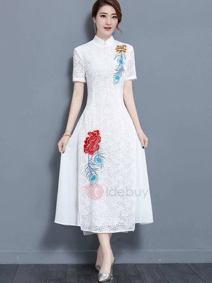 TideBuy TideBuy Unique Short Sleeve Maxi Dress AdoreWe