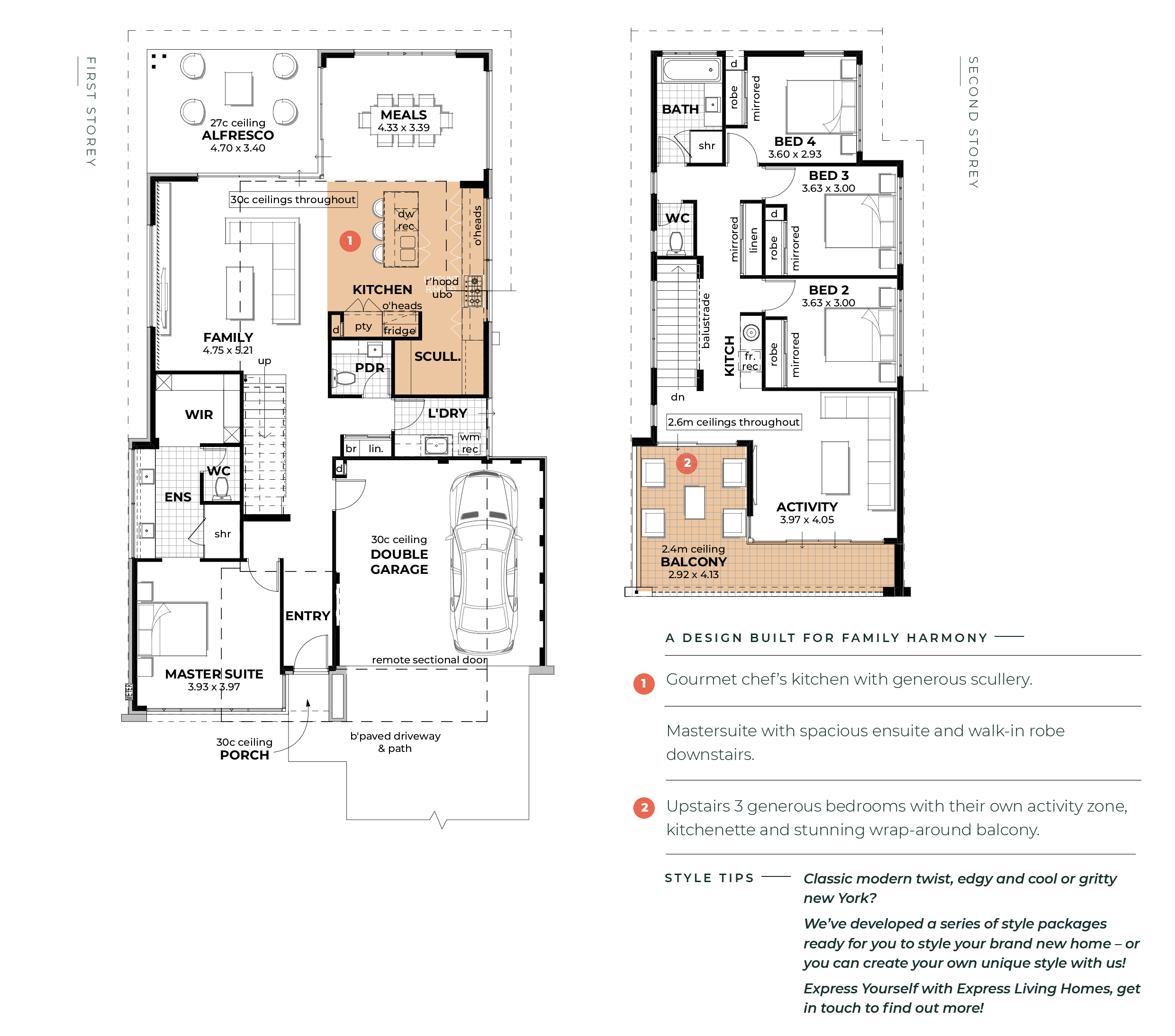 The Hendrix Lifestyle Range By Express Living Homes New Home Designs House Design Floor Plans