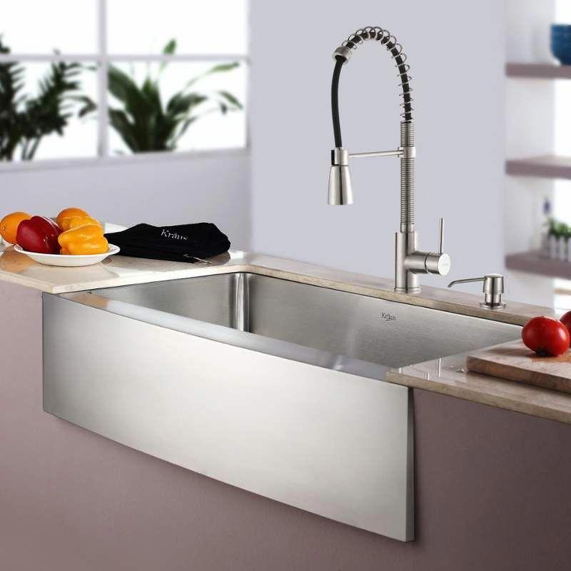 Kraus Khf200 33 Kpf1612 Ksd30 Dream Kitchen Sinks In 2019 Kitchen Sink Organization Apron Sink Kitchen Stainless Steel Farmhouse Sink