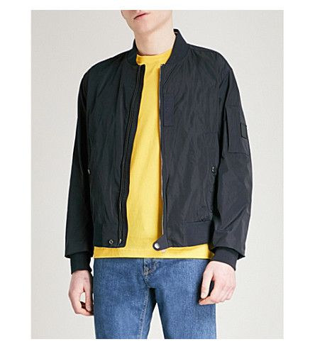 BOSS Stand-collar shell bomber jacket. #boss #cloth ...