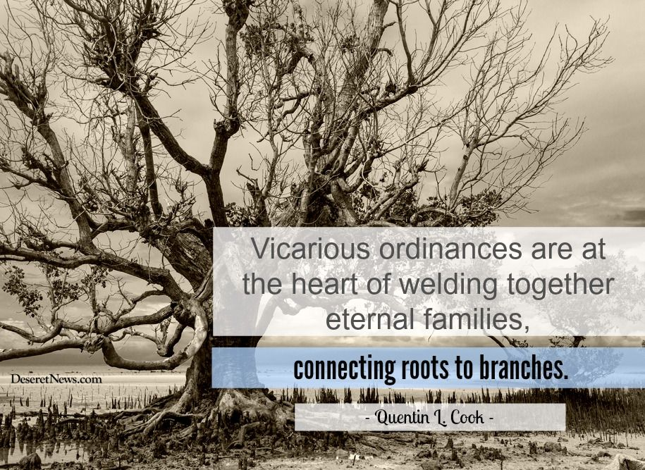 Vicarious ordinances are at the heart of welding together eternal