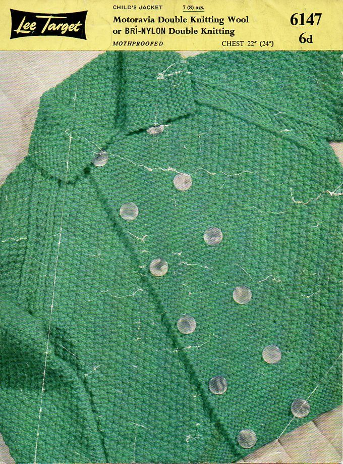 fbe6272901e3 baby knitting patterns pdf baby   childs double breasted coat jacket with  collar Vintage 50s 22-24 inch DK light worsted 8ply download by  coutureknitcrochet ...