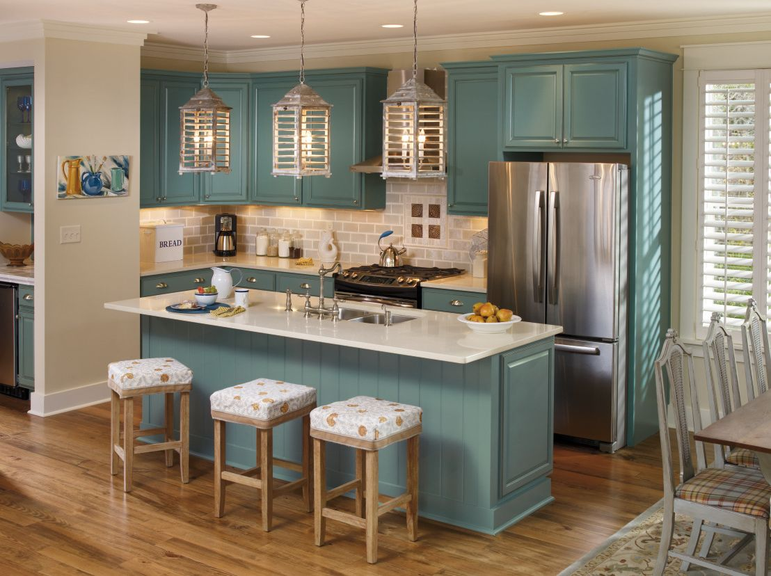 Schrock Kitchen Cabinets Turquoise Appliances 39s Oasis Color From Its Inspired Collection