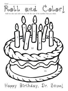 Cake Coloring Page Dr Seuss Coloring Pages Dr Seuss Crafts Dr Seuss Preschool