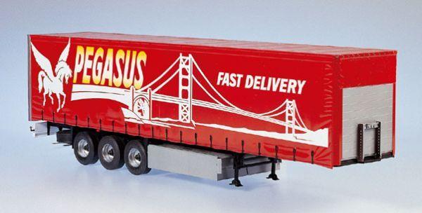Italeri 3809 Curtainside Trailer Trucks Plastic Models Trailer