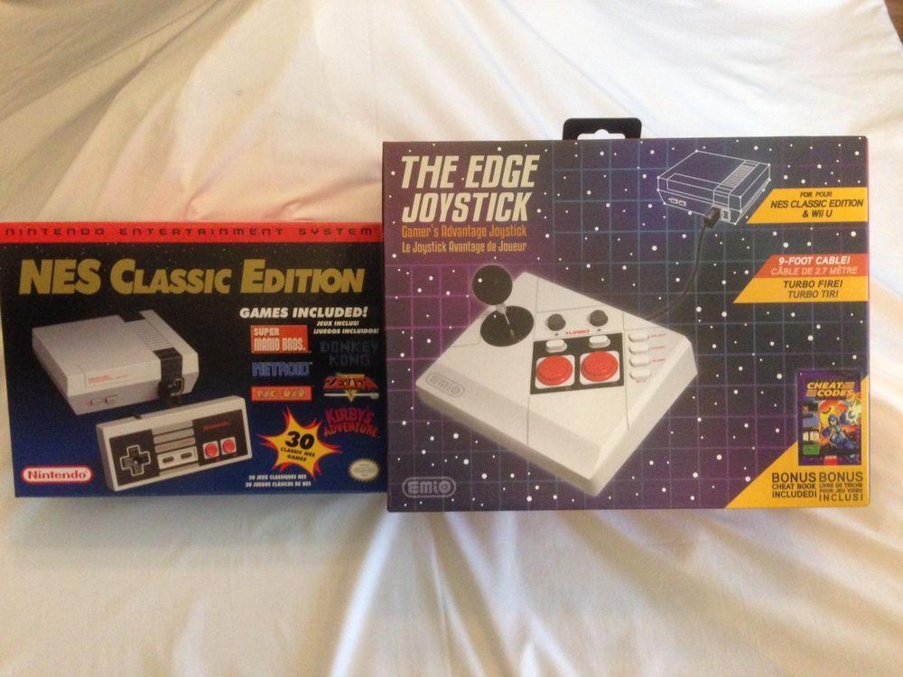 Nintendo NES Classic Edition Mini Console + Joystick Bundle Free Shipping 45496590024 | eBay