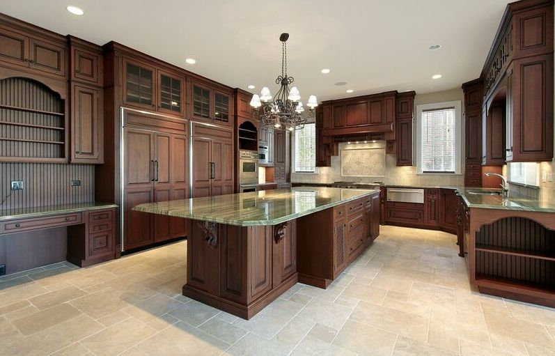 marble flooring kitchen
