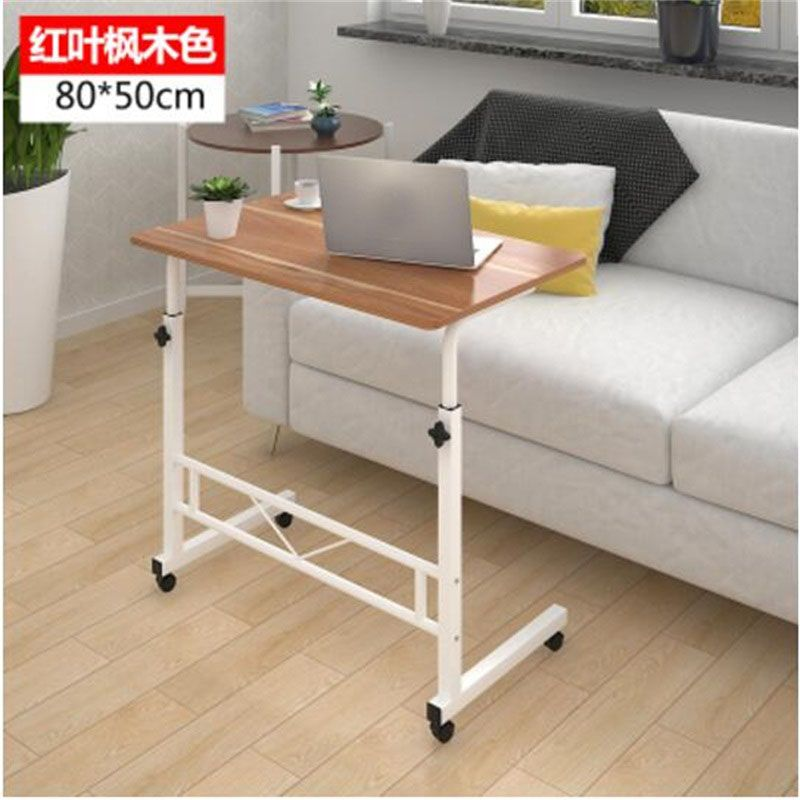 80 50cm Adjustable Height Laptop Desk Portable Movable Mutil Purpose Notebook Computer Desks Laptop Table For Bed Simple Bedside Tables Simple Desk