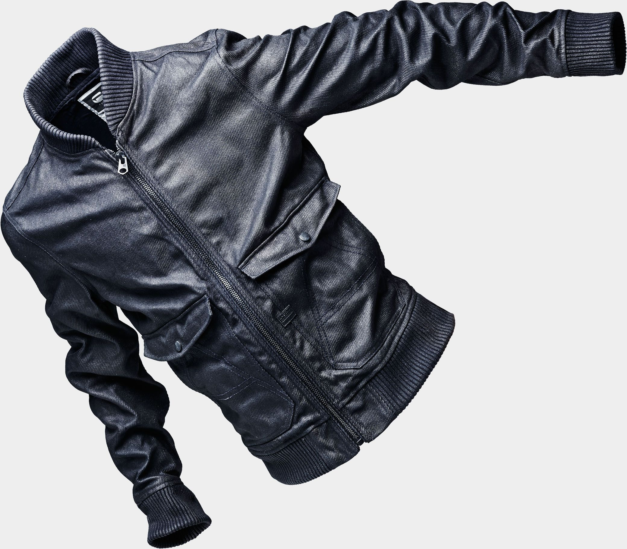 G Star Raw A Crotch 3 D Lined Bomber Aw14 Mens Street Style Raw Denim Leather Jacket [ 1821 x 2080 Pixel ]