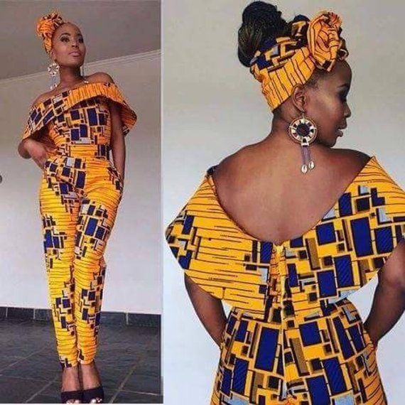 68c66ec32628 African jumpsuit with two sides pocket