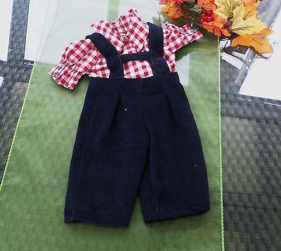 Puppenkleidung-blaue-Traegerhose-Hemd-NostalgiePuppen-Schildkroetpuppe-60