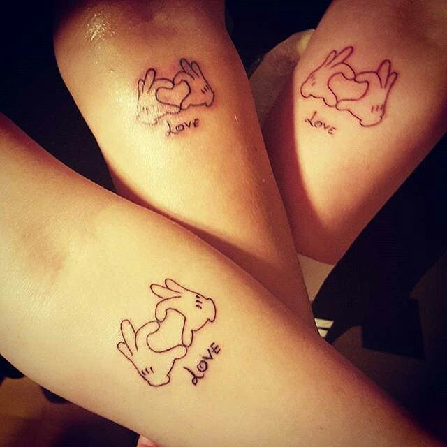 Mother children tattoo