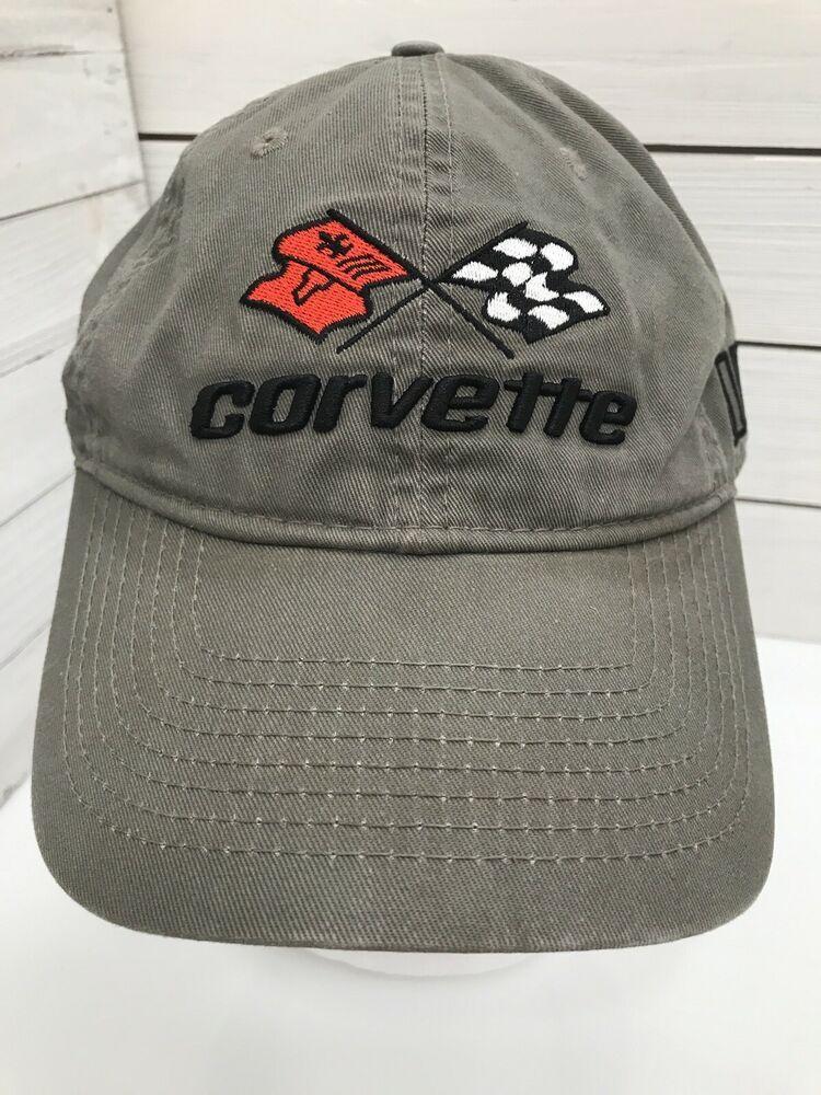 National Corvette Museum Green Black Baseball Cap Hat Club Strapback Corvette Baseballcap Casual Black Baseball Cap Caps Hats Baseball Cap