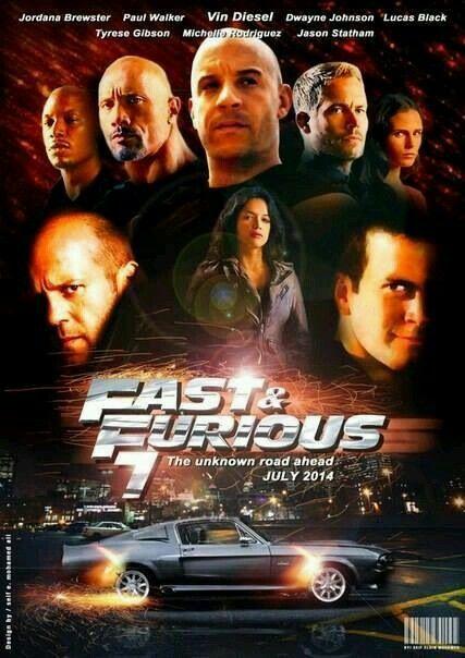 Fast & Furious 7 Jordan Brewster Paul Walker Vin Diesel ...