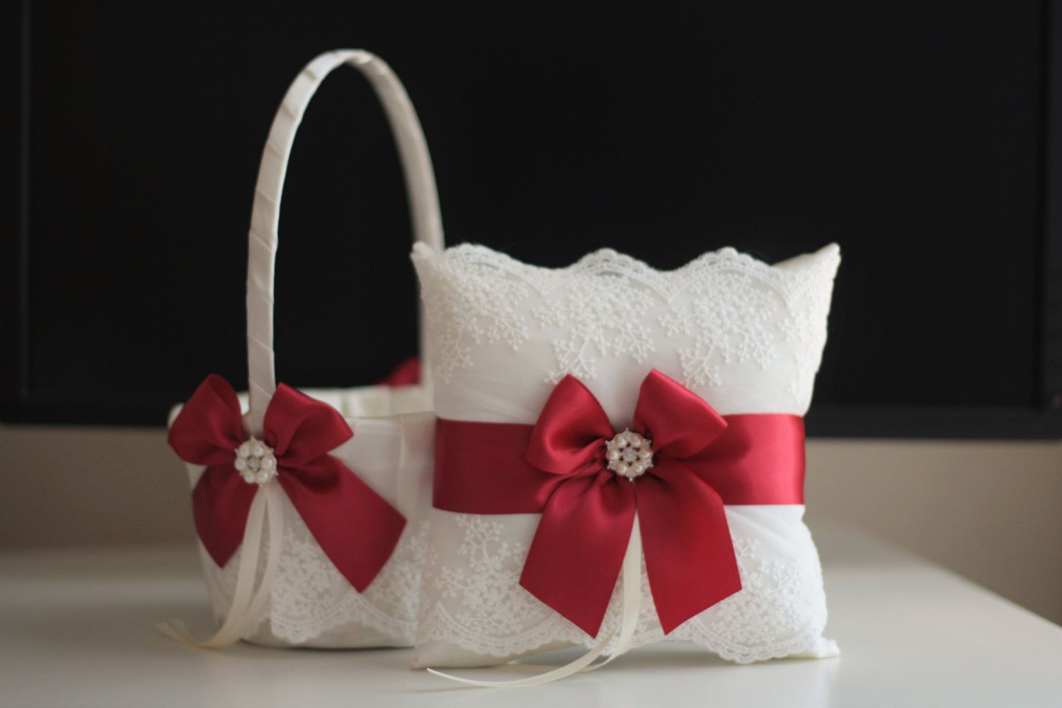 Unique red and white flower girl baskets gallery best evening gown luxury red and white flower girl baskets inspiration best evening mightylinksfo
