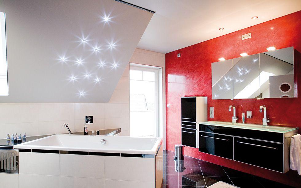 Badezimmer modern gestalten. mit Sternen über der Badewanne ...