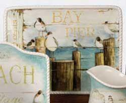 Beach Cottage Rectangle Platter