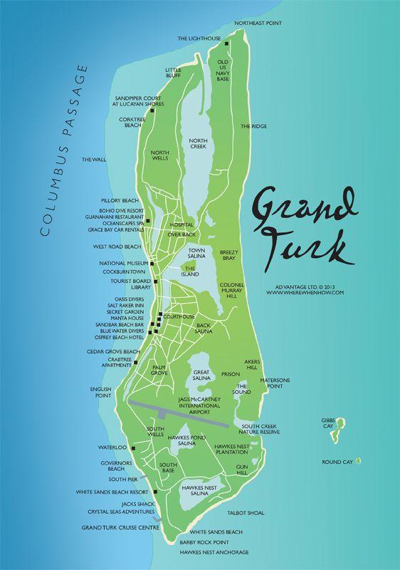 Grand Turk Cruise Port Map : grand, cruise, Misc.