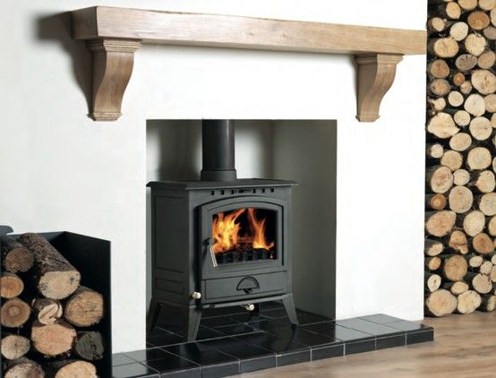 Nice Floating Mantle Shelf And Log Store More Home Fireplace