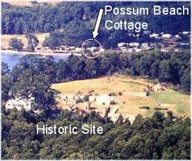 Possum Beach Cottage Map Says  Nite Fur Jan Right Next To Port Arthur
