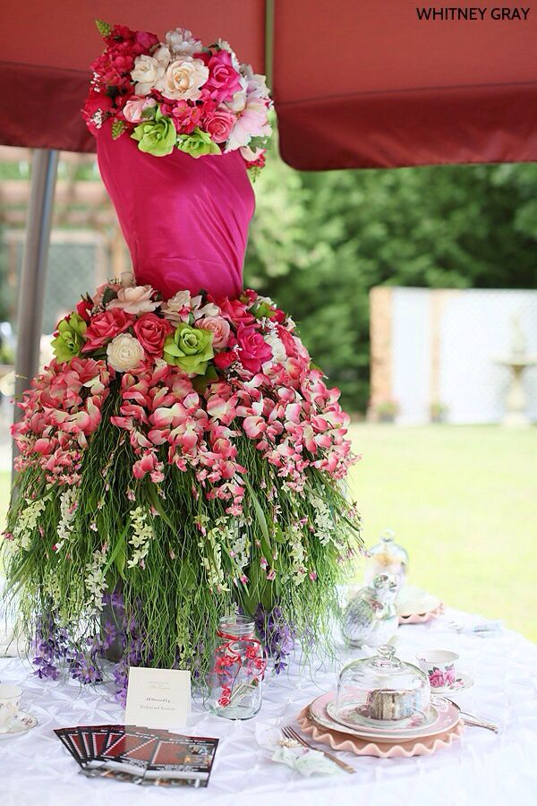 Party Centerpiece Arreglo Floral Vestidos Florales
