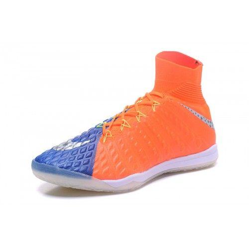 the latest 537e4 7061b Nike Hypervenom - Discount Nike HypervenomX Proximo II DF IC Blue Orange  Football Shoes