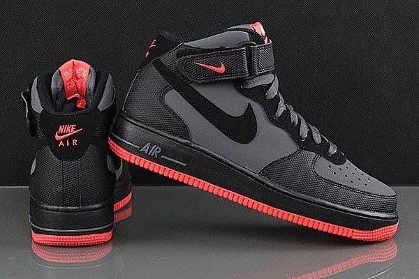 quality design 7e432 8871d Nike Air Force 1 High Men Black Grey Red
