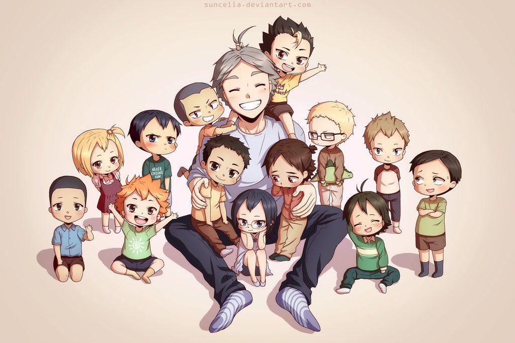 Haikyuu moms!! Karasuno Family Photo by Suncelia on DeviantArt