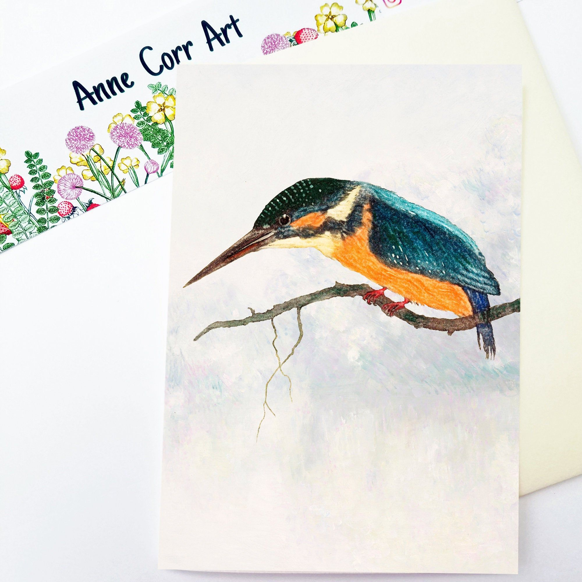 Happy Birthday Bird Card Nature Birthday Card Kingfisher Etsy In 2021 Happy Birthday Birds Bird Cards Birthday Cards